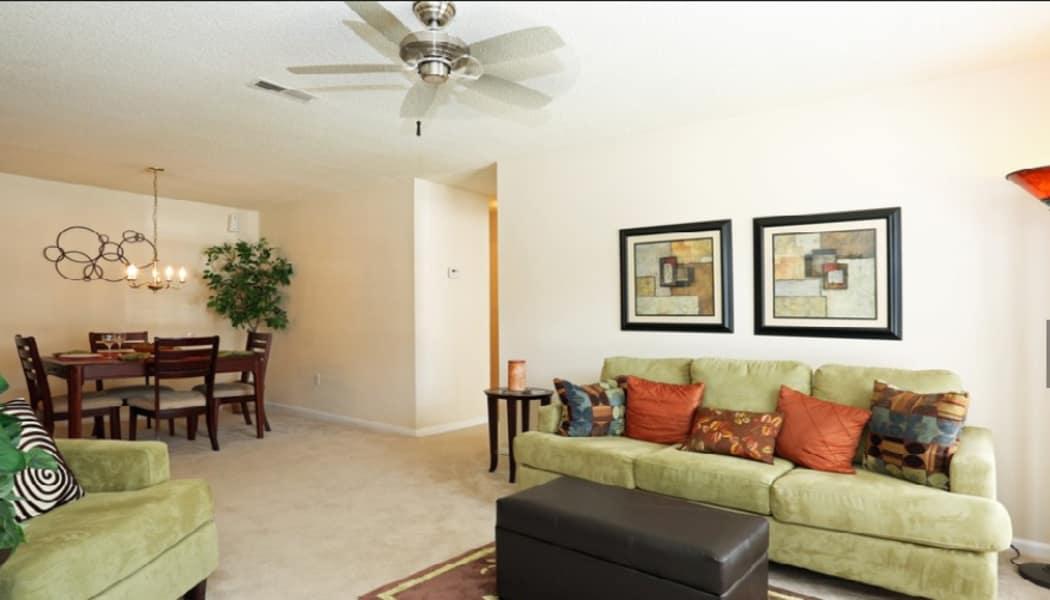 Living Room at Stonebridge Apartments in Chesapeake, VA