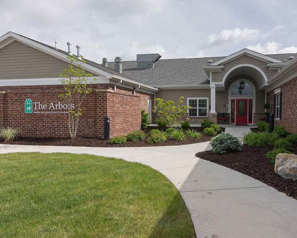 Main entrance at Field Pointe Assisted Living in Saint Joseph, Missouri