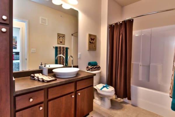 Spacious bathrooms at Aventura at Richmond in Saint Peters, Missouri.