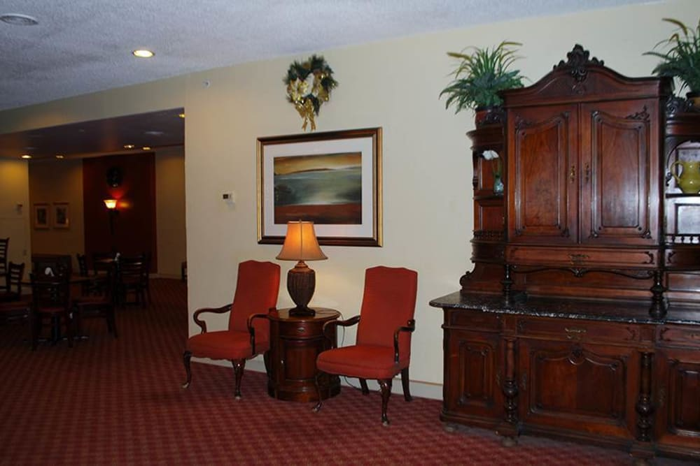 Common area at Park Place Senior Living in Sacramento, California