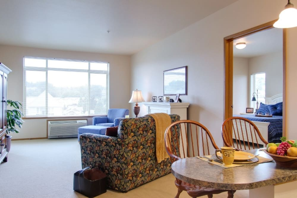 Spacious floor plans at Merrill Gardens at Renton Centre in Renton, Washington.
