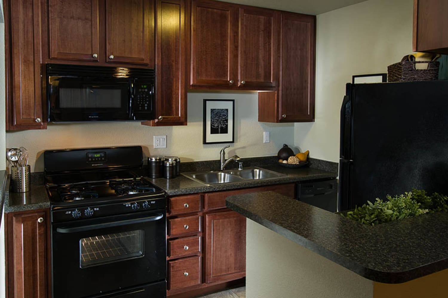 UCA Apartment Homes in Fullerton, California, offer upgraded kitchens