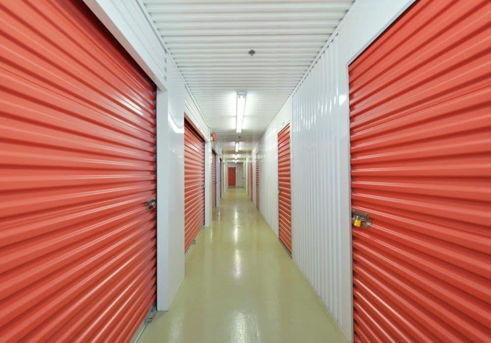 Interior units at Centron Self Storage in North York, Ontario