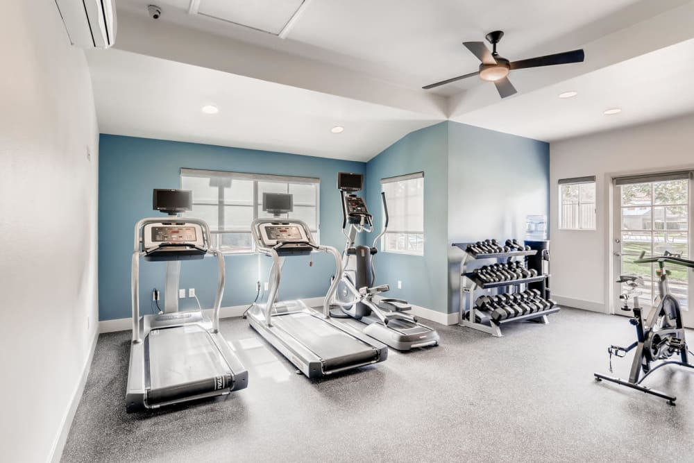 Onsite fitness center at Hidden Hills Condominium Rentals in Laguna Niguel, California