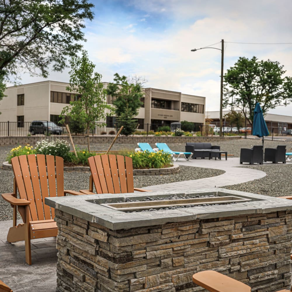 Firepit area at Southglenn Place in Centennial, Colorado