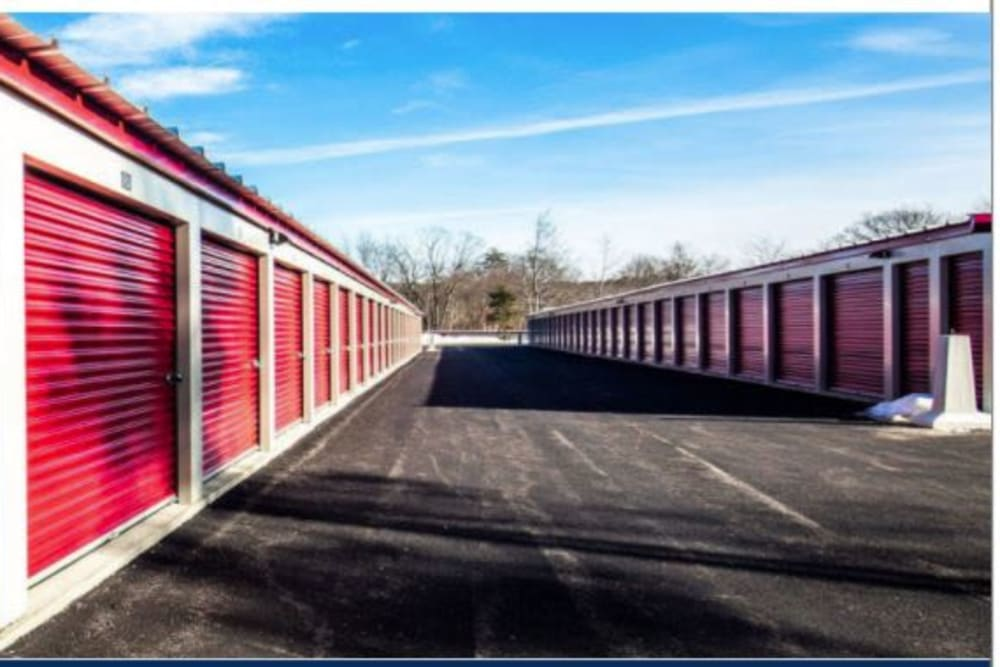 A row of units at 603 Storage - Pittsfield in Pittsfield, New Hampshire