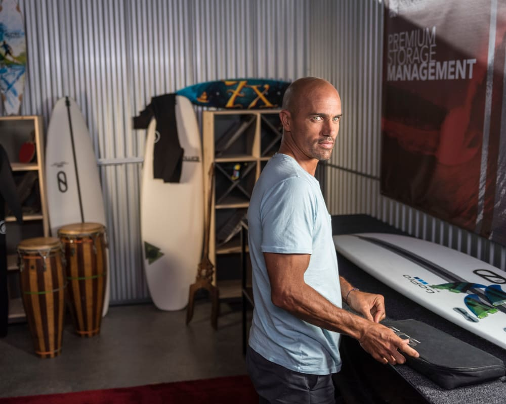 Kelly Slater World Champion Surfer Partners with StorQuest Self Storage