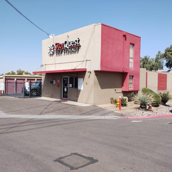 Exterior of StorQuest Self Storage in Glendale, Arizona