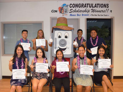 Learn more about the annual scholarships awarded by Hawai'i Self Storage