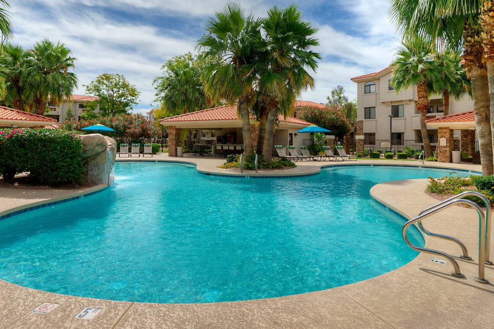 Beautiful swimming pool at San Marbeya in Tempe, Arizona