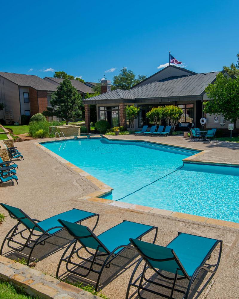Resort style pool at Hunter's Ridge in Oklahoma City, Oklahoma