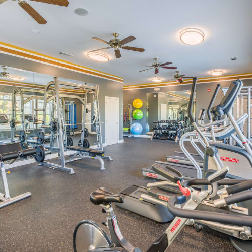 View virtual tour of the fitness center at The Oxford in Conyers, Georgia