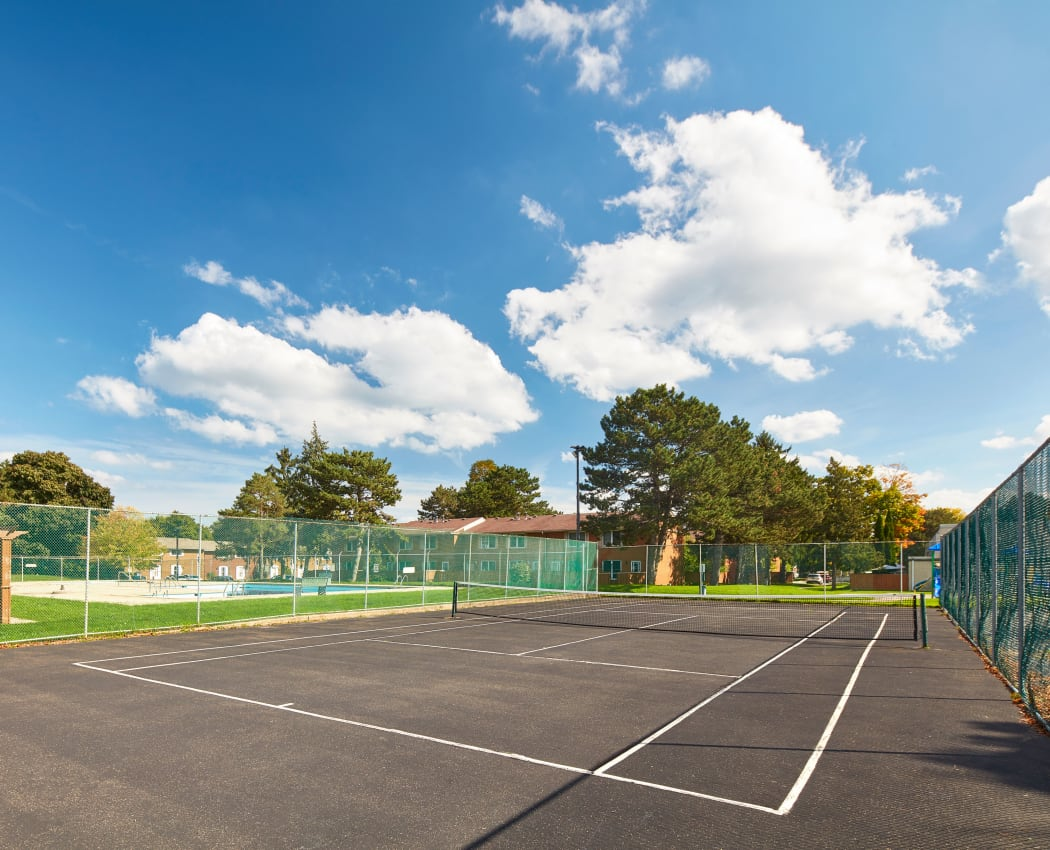 Tennis court at Georgian Court Estates in Burlington, Ontario