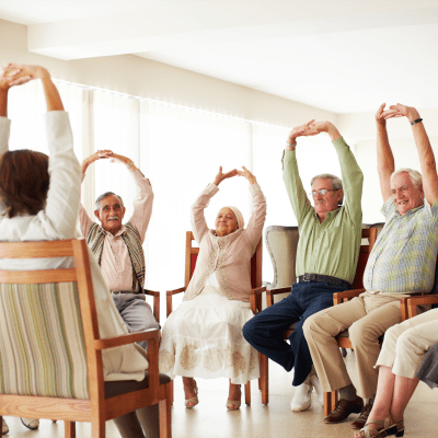 Fitness classes at Chandler's Square Retirement Community in Anacortes, Washington