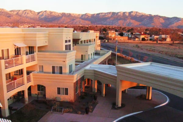 Building exterior of Paloma Landing Retirement Community in Albuquerque, New Mexico