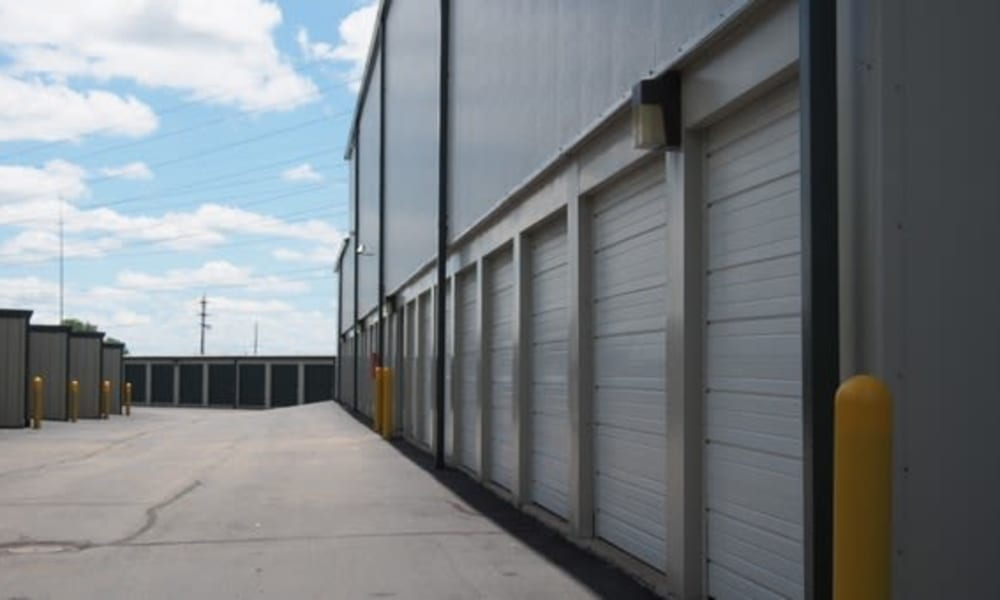 Row of our exterior storage units at Michigan Storage Centers in Farmington Hills, Michigan