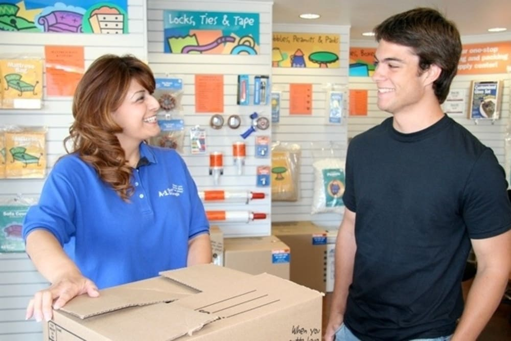 An employee helps a customer at A-1 Self Storage