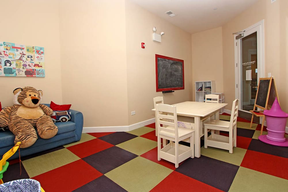 Kid's play room at Riverstone Apartments in Bolingbrook, Illinois
