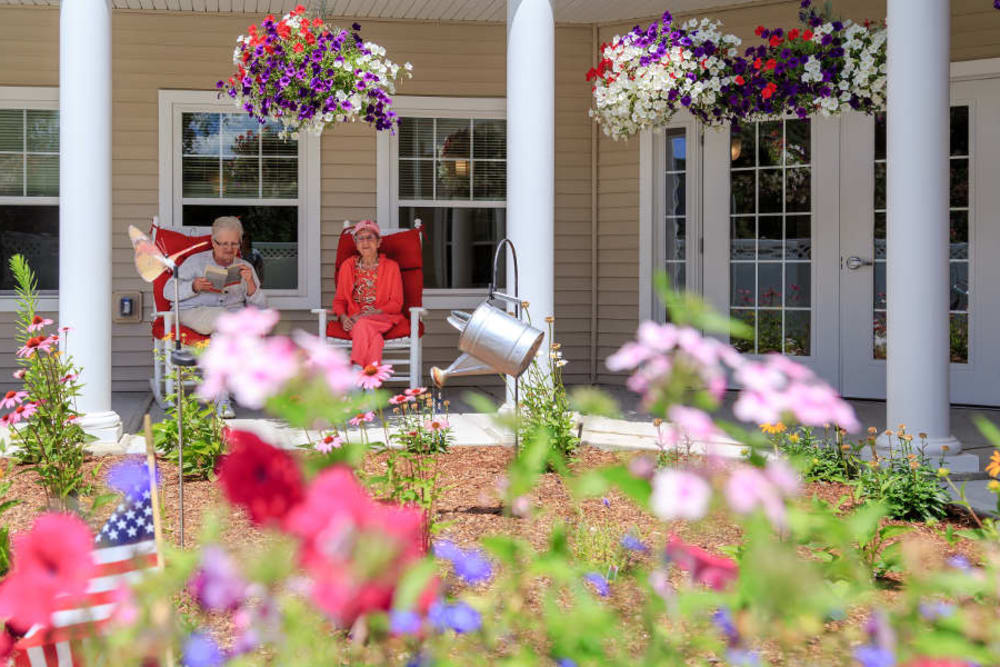 Beautiful garden at All American Assisted Living at Washington Township