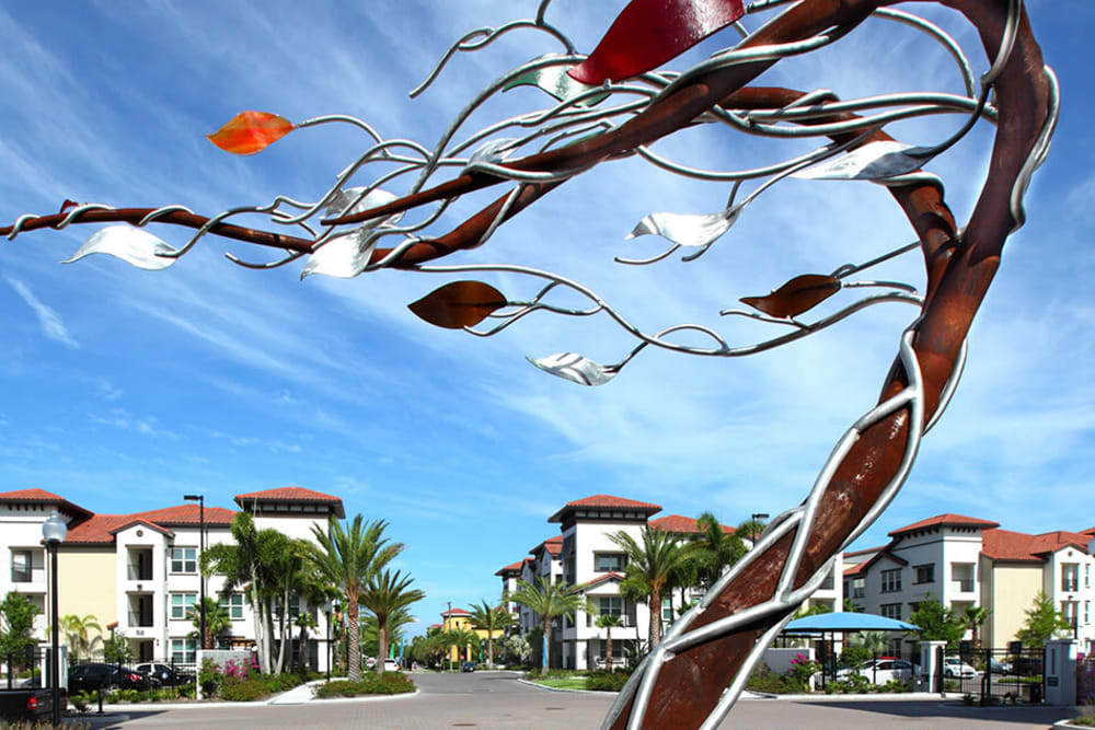 Tree made of metal near Jefferson Westshore in Tampa, Florida