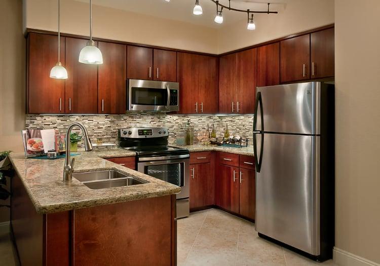 Kitchen corner at McDowell Village in Scottsdale, Arizona