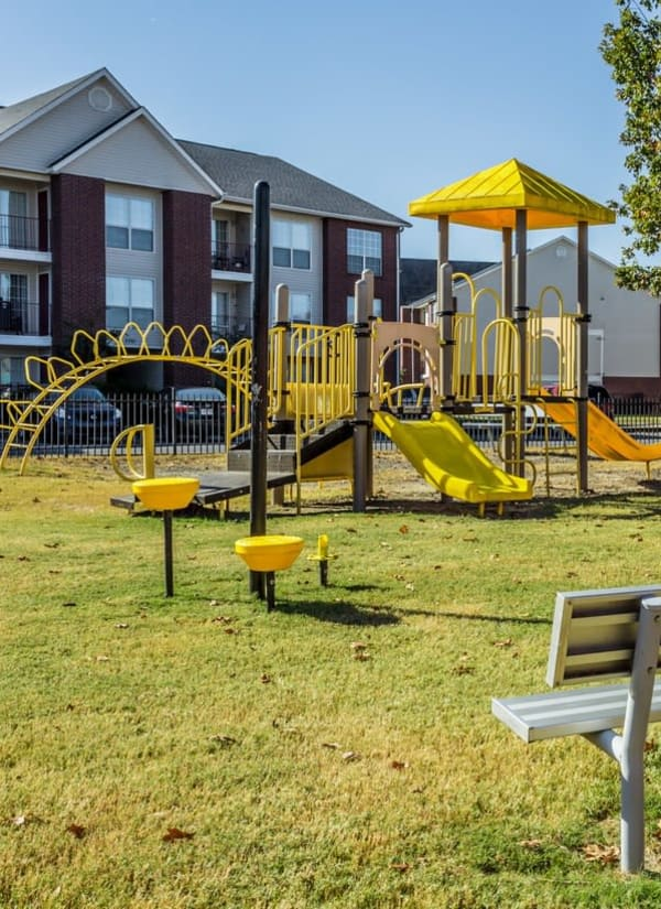 Resident onsite playground at River Pointe in North Little Rock, Arkansas