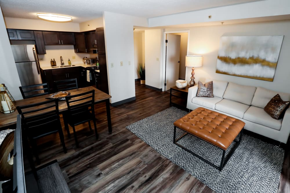 Modern open layout at Halcyon House in Denver, Colorado