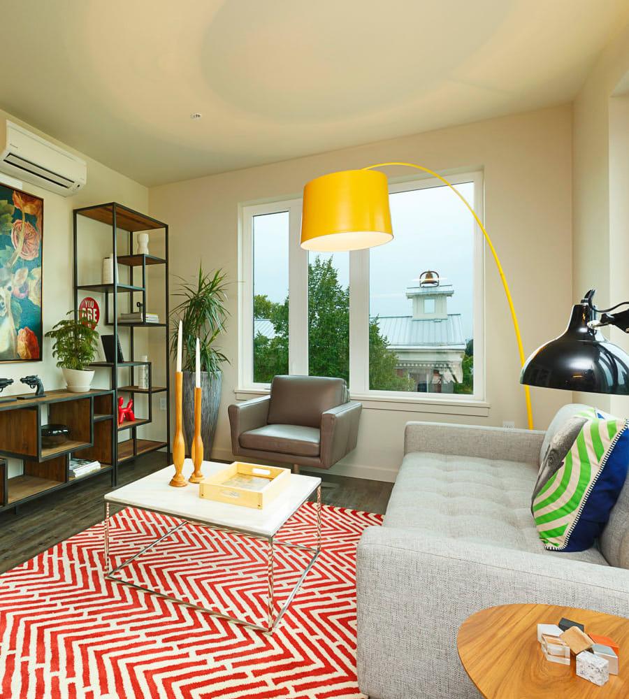 Living room at Marvel 29 in Portland, Oregon