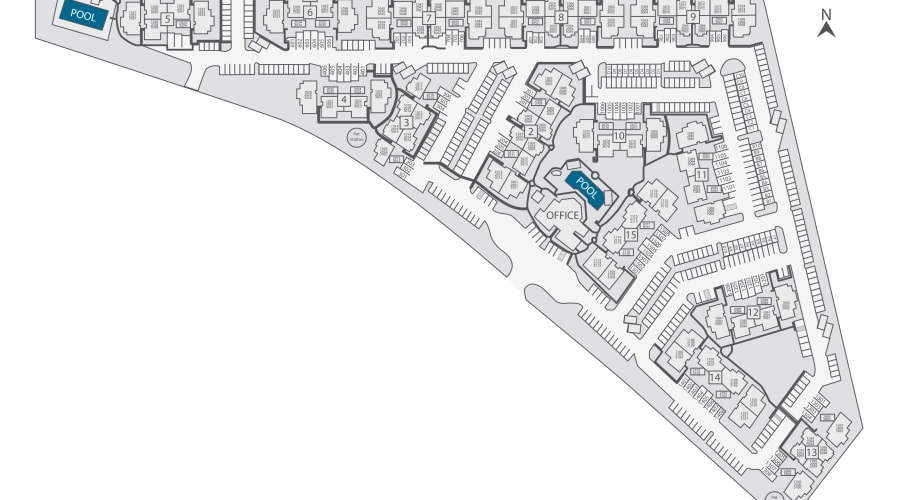 The Regents at Scottsdale site plan