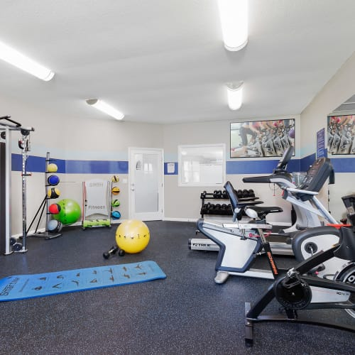 View virtual of the fitness center at WestEnd At 76Ten in Tampa, Florida