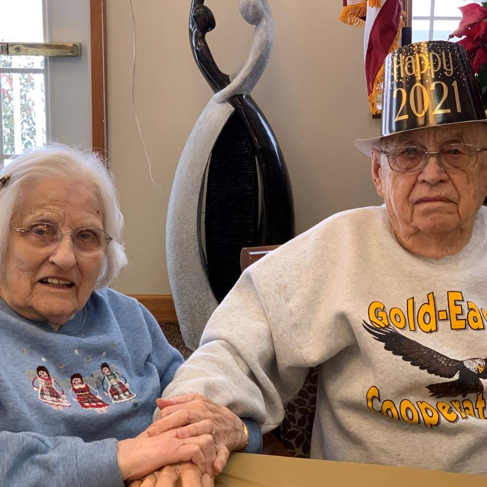 Resident living at birthcya celebration at Glenwood Place in Marshalltown, Iowa.