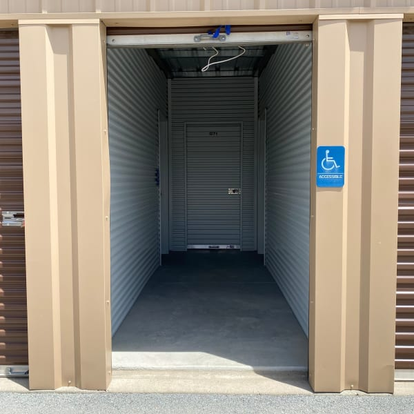 Handicap accessible storage unit at StorQuest Self Storage in Palm Springs, California