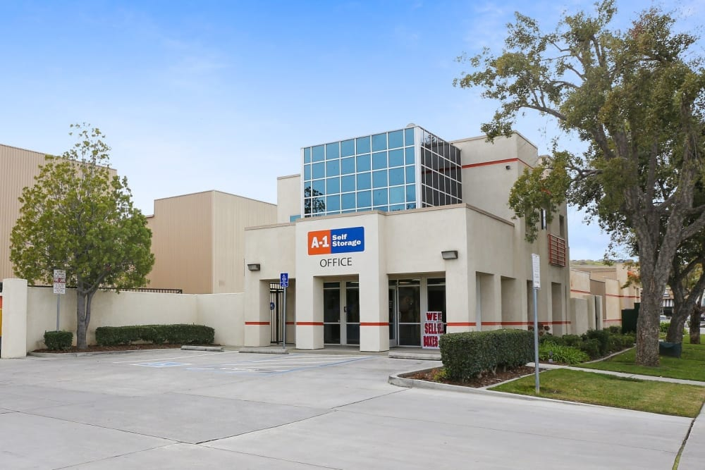 The front entrance to A-1 Self Storage in San Jose, California