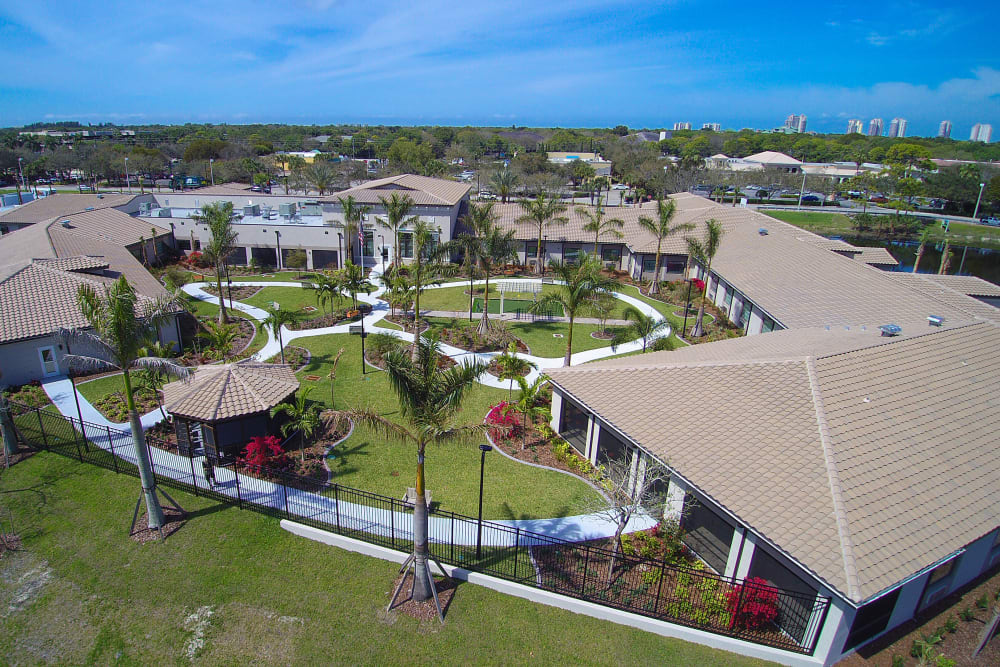 Aerial view of Inspired Living in Bonita Springs, Florida.
