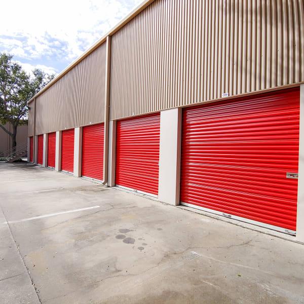 Exterior units at StorQuest Self Storage in Tampa, Florida