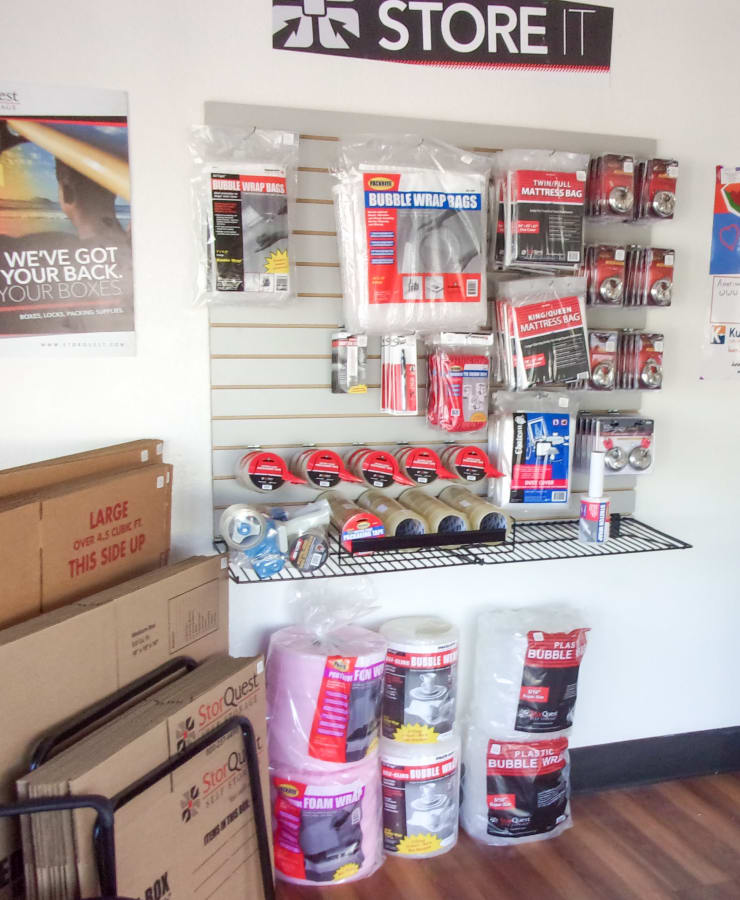 Boxes and moving supplies available at StorQuest Self Storage in Manitou Springs, Colorado