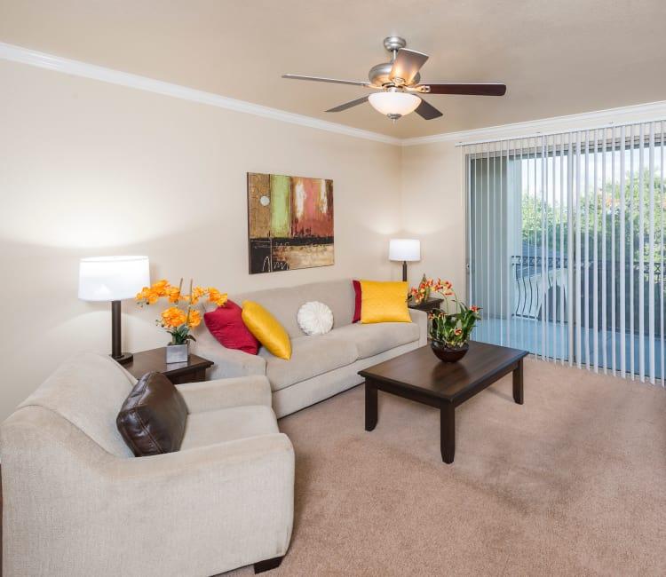 Living room at Villas of Vista Del Norte in San Antonio, Texas