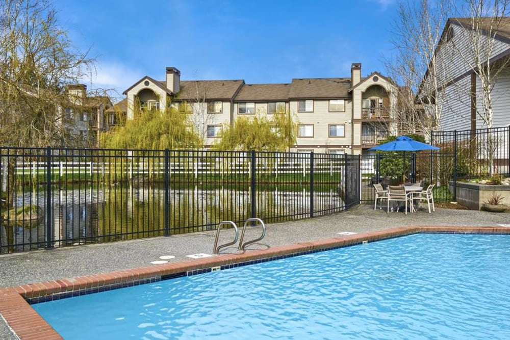 Pool for our residents at Olin Fields Apartments