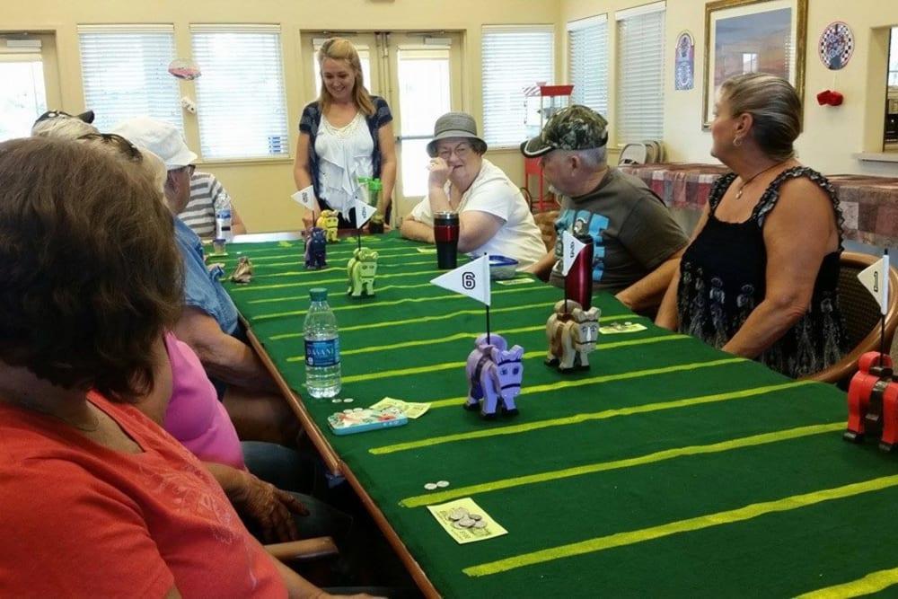 Community game night at Castle Vista Senior Duplex Community in Atwater, California