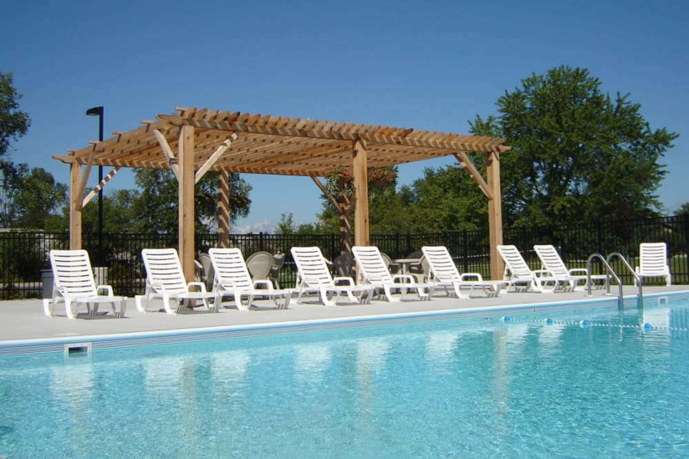 Catch some sun on the sun deck at Parquelynn Village Apartments in Nashotah, WI