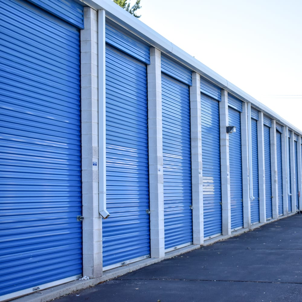 Outside of an exterior storage unit at STOR-N-LOCK Self Storage in Cottonwood Heights, Utah