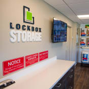 Inside front office at LockBox Self Storage in Greenville, South Carolina