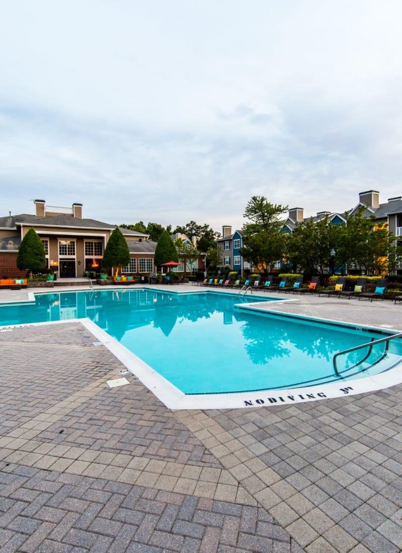 Outdoor swimming pool at Marquis at Silverton in Cary, North Carolina
