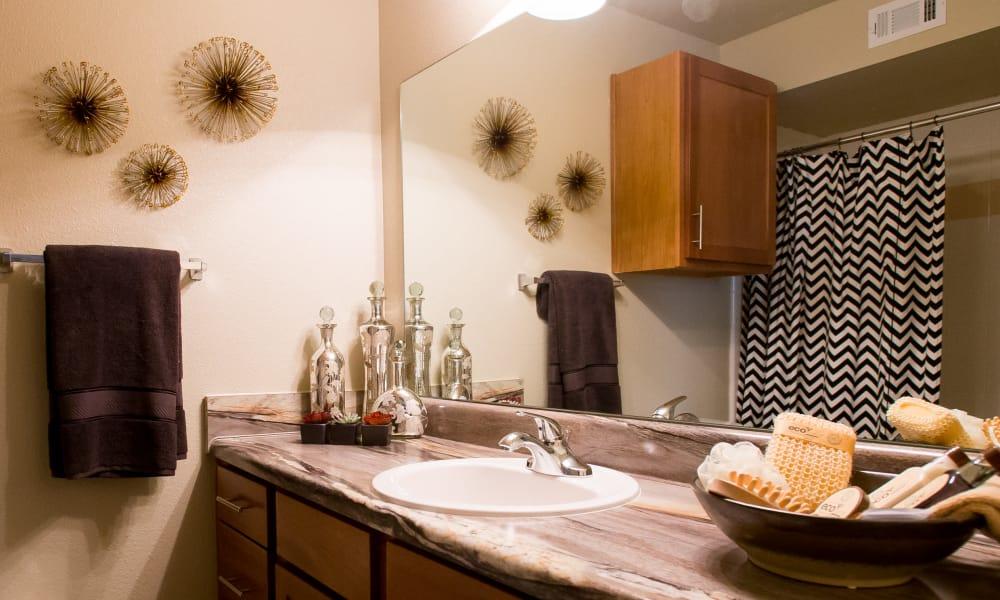 Spacious bathroom at Tuscana Bay Apartments in Corpus Christi, Texas