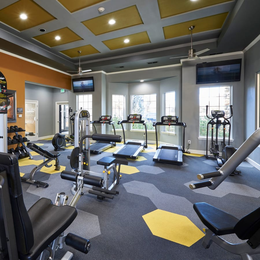 Legend Oaks Apartments newly renovated fitness center, fully equipped