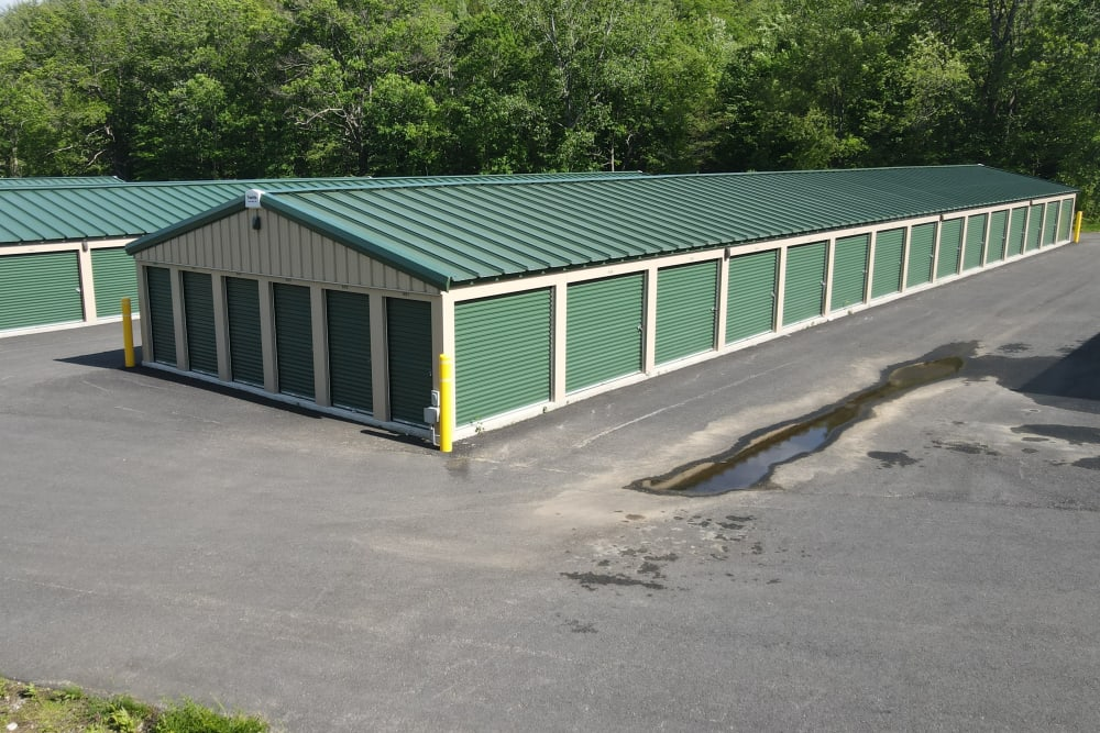 Corner of storage area at 603 Storage - West Milford in Milford, New Hampshire