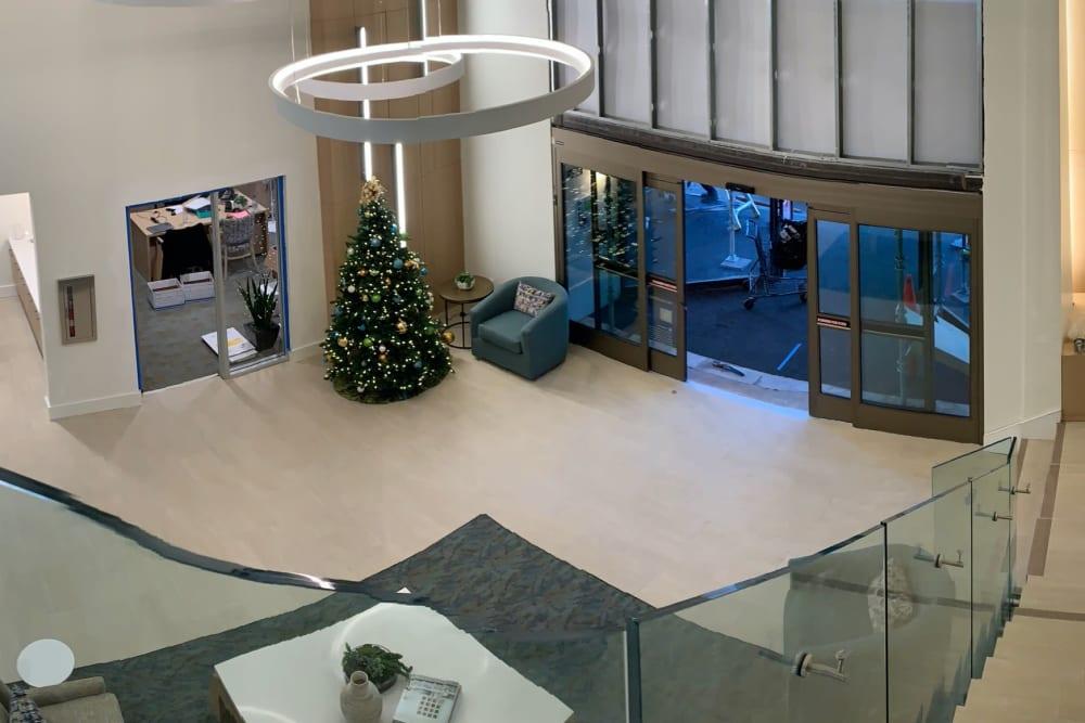 Luxury clubhouse at Hillsborough Plaza Apartments in San Mateo, California