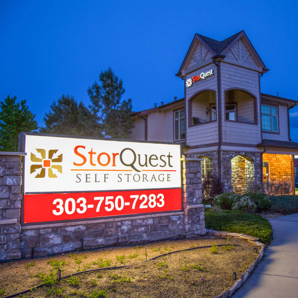 Exterior of StorQuest Self Storage in Aurora, Colorado