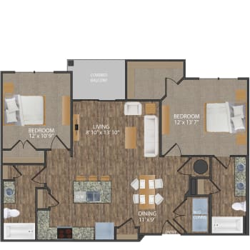 Greene I floor plan at Callio Properties in Chattanooga, Tennessee