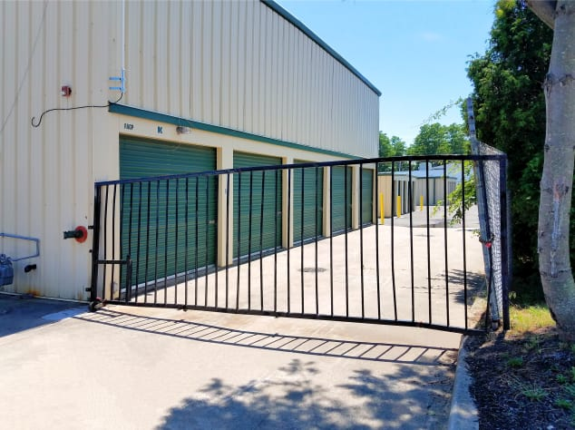 Security gate at Prime Storage in Centereach, New York